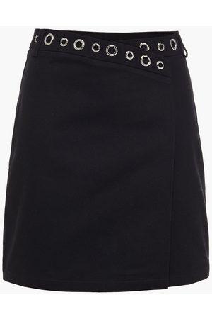 Maje Woman Jamil Eyelet-embellished Cotton-gabardine Mini Skirt Size 36