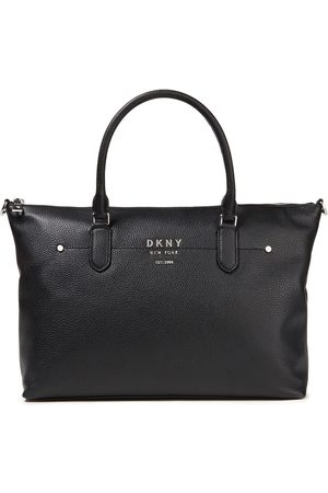 DKNY Woman Pebbled-leather Tote Size