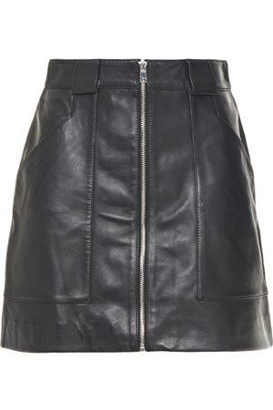 Maje Woman Jelise Leather Mini Skirt Size 36