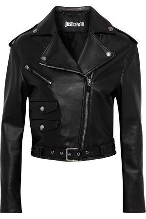 Roberto Cavalli Woman Leather Biker Jacket Size 38