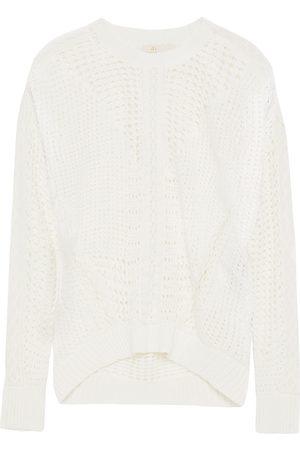 Maje Woman Mazet Crocheted Cotton Sweater Size 1