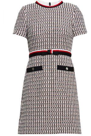 Maje Woman Rivi Metallic Cotton-blend Tweed Mini Dress Size 38