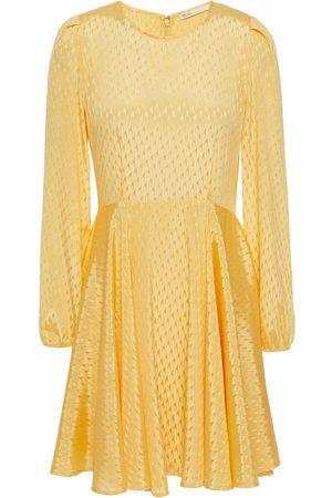 Maje Woman Rose Gathered Satin-jacquard Mini Dress Size 36