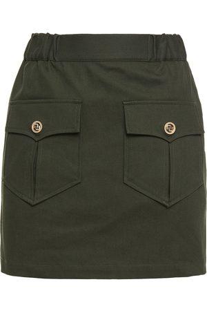 Maje Woman Jesna Cotton-blend Twill Mini Skirt Forest Size 36