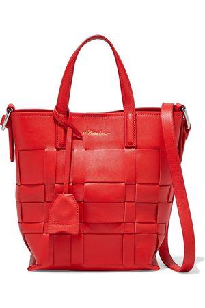 3.1 Phillip Lim Woman Odita Mini Basketweave Leather Bucket Bag Size