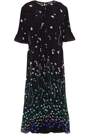 Markus Lupfer Woman Estelle Fluted Printed Georgette Midi Dress Size 10