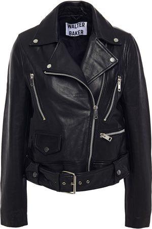 Walter Baker Woman Flissy Leather Biker Jacket Size L