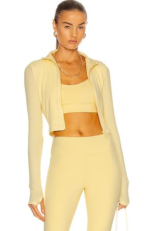 ALALA Rise Zip Up Jacket in Yellow