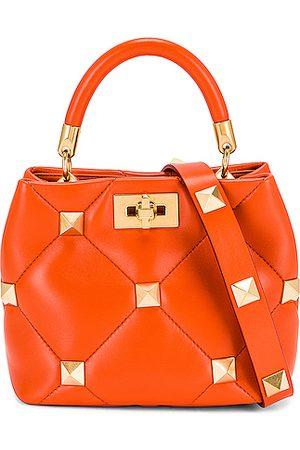 VALENTINO GARAVANI Small Roman Stud Top Handle Bag in