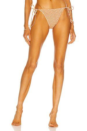 Palm Talise Bikini Bottom in Orange
