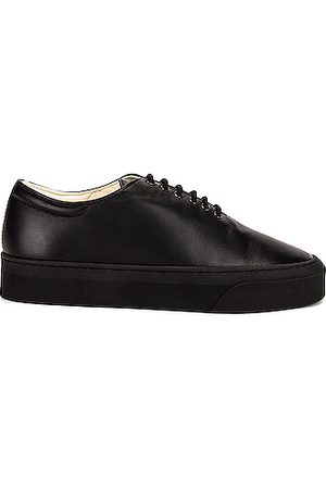 The Row Marie H Lace Up Leather Sneakers in