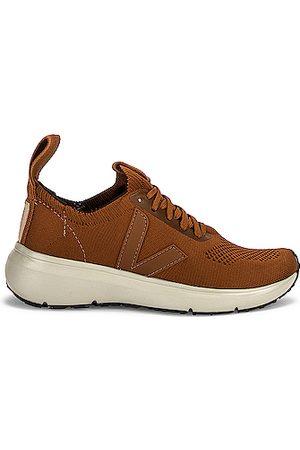 Rick Owens X Veja Low Sock Sneaker in Tan