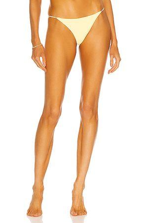 Jade Swim Bare Minimum Bikini Bottom in Yellow