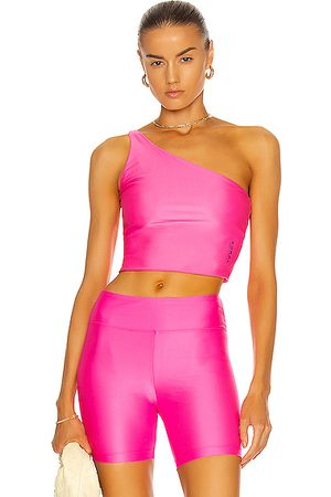 Koral Attract Energy Crop Top in Fuchsia
