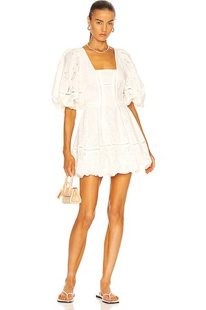 JONATHAN SIMKHAI Brynn Mini Dress in Ivory