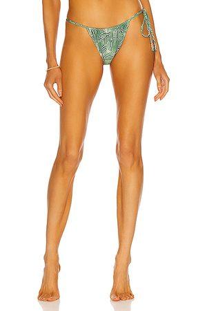 Palm Viper Bikini Bottom in Green