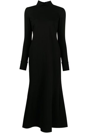 Macgraw High-neck flared midi dress