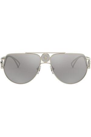 VERSACE Men Aviators - Medusa aviator-frame sunglasses - Grey