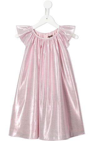 Velveteen Isabella gathered metallic dress
