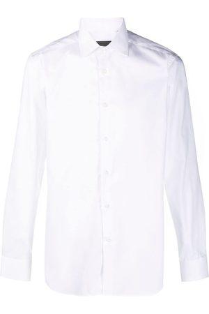 corneliani Spread-collar cotton shirt