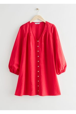 & OTHER STORIES Relaxed Buttoned Mini Dress