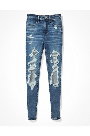 American Eagle Outfitters Next Level Ripped High-Waisted Jegging Women's 2 Regular
