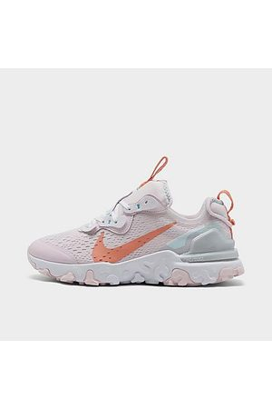 Nike Girls Sports Shoes - Girls' Big Kids' React Vision Running Shoes in /Light Violet Size 3.5