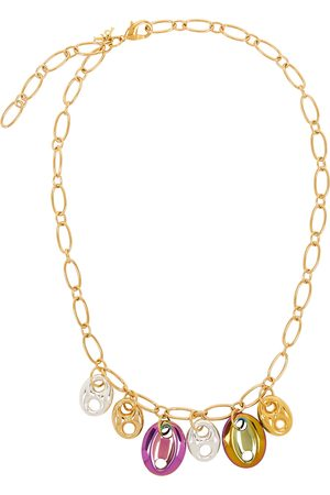 Timeless Pearly Women Necklaces - 24kt gold-plated necklace