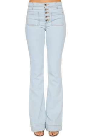 Ramy Brook Cindy Flared Jeans in Bleach