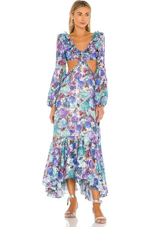 PATBO Blossom Cut Out Beach Dress in Blue.