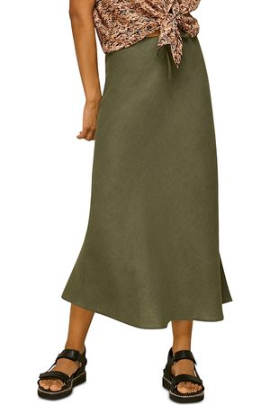 Whistles Bias Cut Linen Skirt
