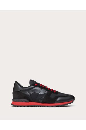 VALENTINO GARAVANI Men Sneakers - Camouflage Noir Rockrunner Sneaker Man / Polyester 20%, Cotton 30% 39.5