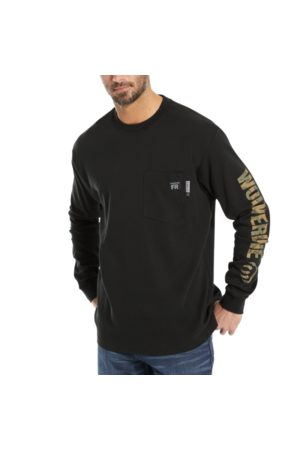 Wolverine Men's FR Long Sleeve Print Tee , Size L
