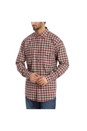 Wolverine Men's FR Plaid Long Sleeve Twill Shirt - 3X Dark Plaid, Size L