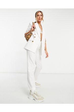 ASOS Clean double breasted linen suit blazer in