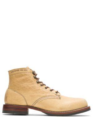 Wolverine Men Boots - Men's Evans 1000 Mile Boot - Olive Tanned Natural, Size 7
