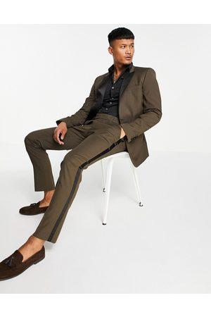 ASOS Skinny tuxedo suit pants in