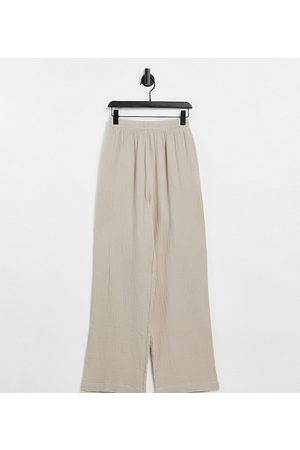 ASOS ASOS DESIGN Tall cheesecloth coordinating pull on sweatpants in stone