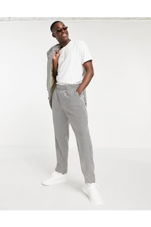 ASOS Oversized tapered suit pants in houndstooth