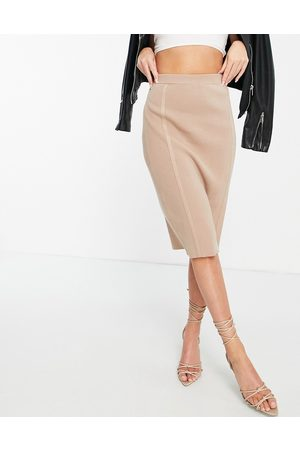 4th & Reckless Knit midi skirt in - part of a set-Neutral