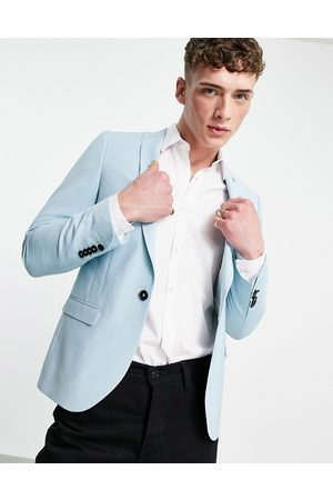 Twisted Tailor Suit jacket in mint blue-Blues
