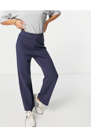 & OTHER STORIES & organic cotton coordinating lounge pants in navy