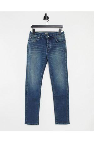 WeSC Bob straight leg denim in vintage mid wash-Blues