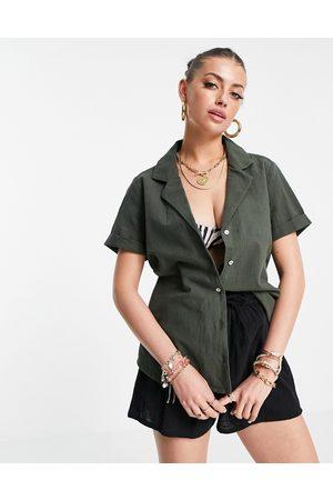 Rhythm Classic set beach shirt in khaki