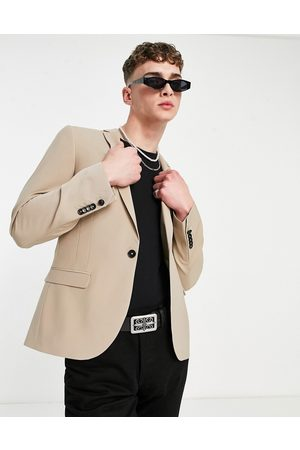 Twisted Tailor Suit jacket with wool mix in stone-Neutral