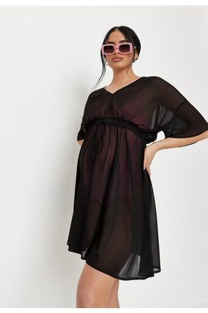 Missguided Sheer V Neck Maternity Beach Cover Up Kimono