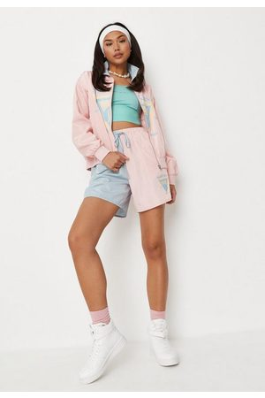 Missguided Co Ord Colorblock Sports Class Runner Shorts