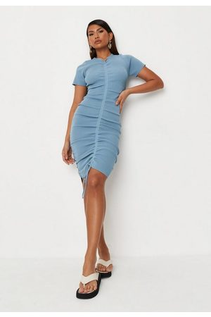 Missguided Ruched Knit Mini Dress