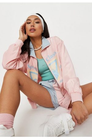Missguided Co Ord Sports Class Zip Through Bomber Jacket