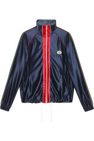 Gucci Men Bomber Jackets - Web-trim track jacket